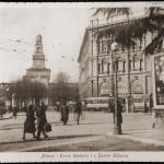 Lampioni_Arredo_Urbano_Largo Cairoli e il Castello 1910-15