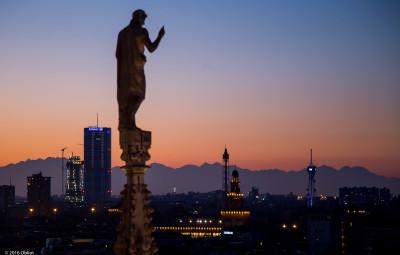 dalla terrazza del Duomo, Milano