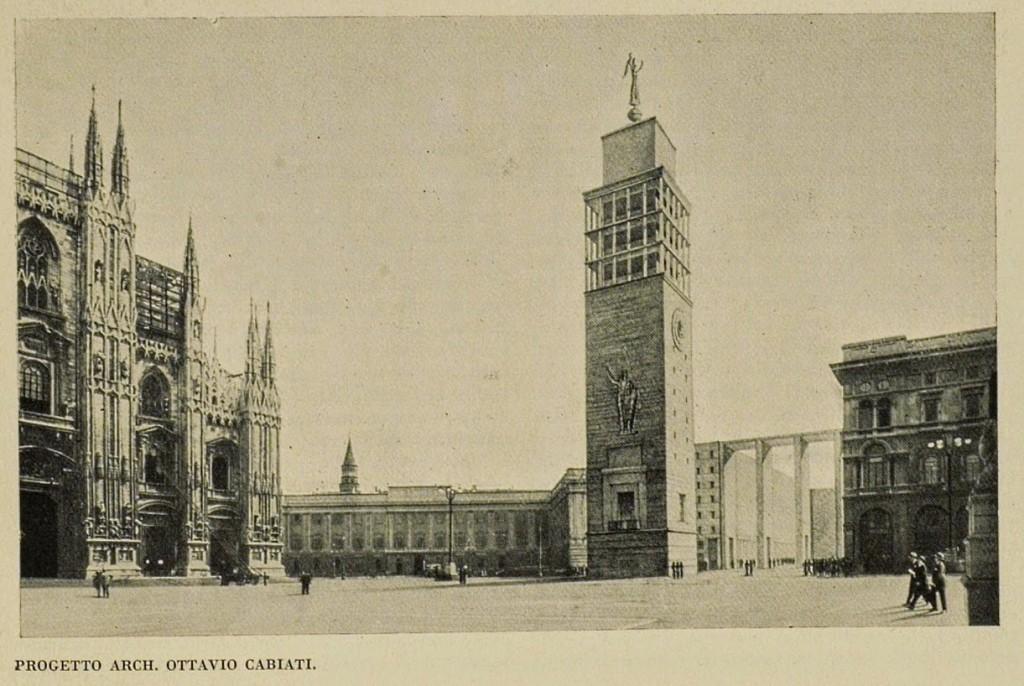 Duomo, Progetto Torre Campanaria Architetto Ottavio Cabiati, anni Trenta