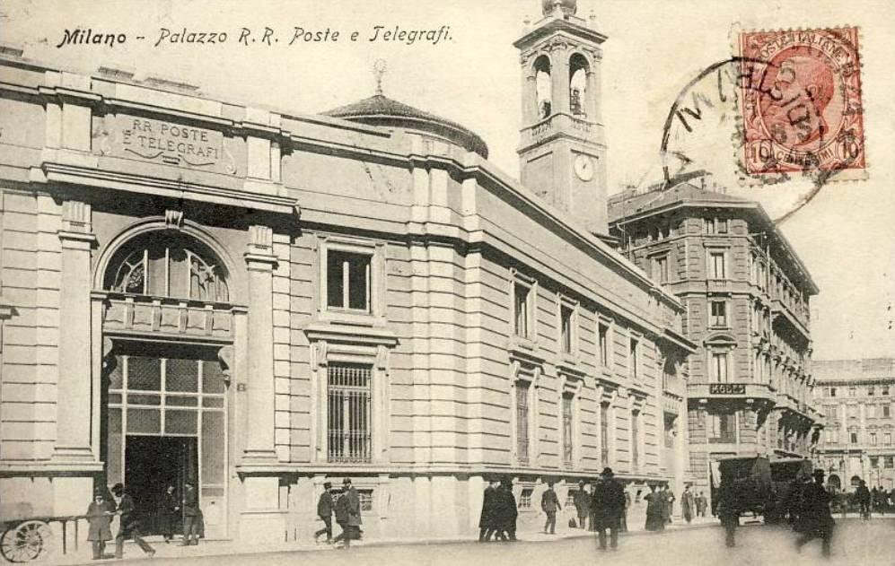 Il Cordusio, Palazzo delle Regie Poste e la chiesa di Santa Maria Segreta