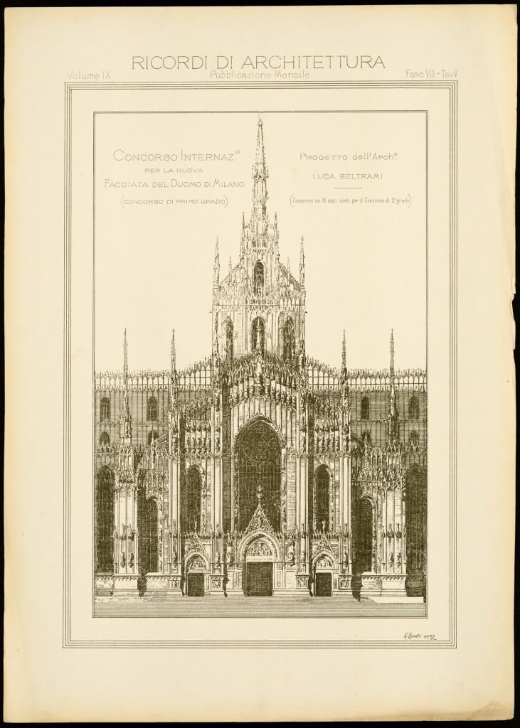 Progetto Facciata Duomo Milano Giuseppe Brentano