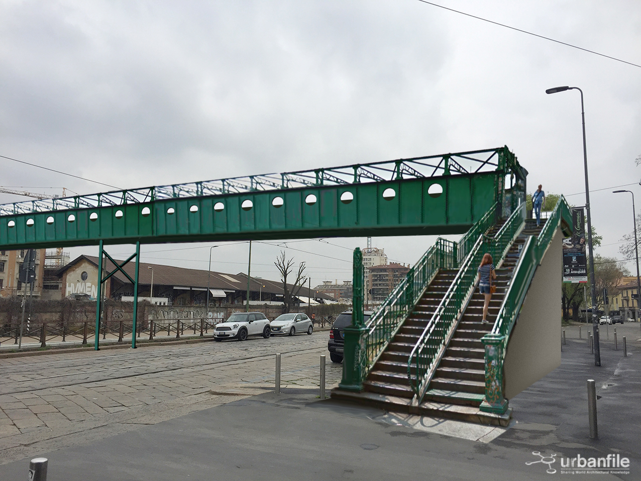 Milano porta genova il ponte icona di via tortona che - Carabinieri porta genova milano ...