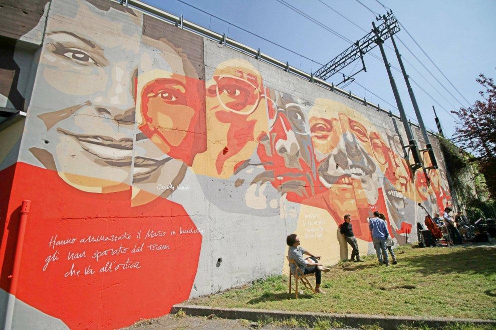 Milano ortica un murales per celebrare la musica for Ristorante murales milano