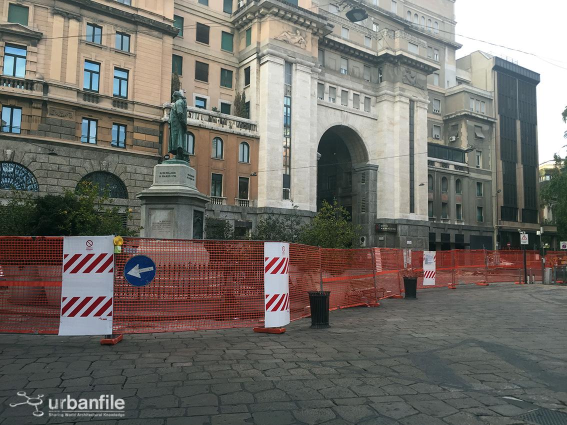 Milano pasquirolo partiti i lavori per la for Piazza beccaria