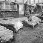 Mediolanum Fondamenta del teatro romano in via San Vittore al Teatro 1930