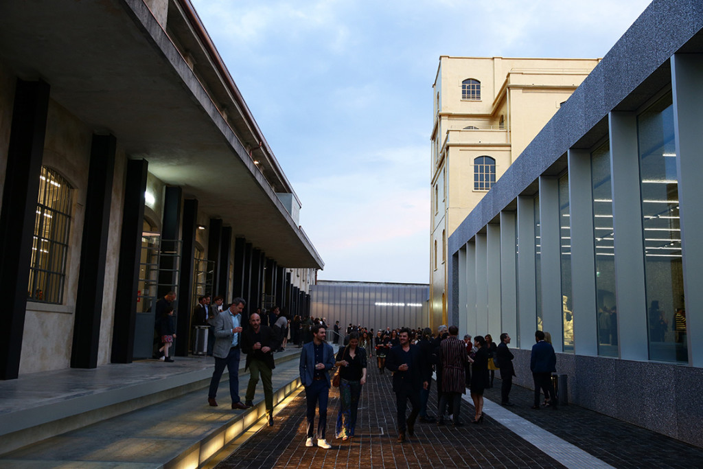 attends the Fondazione Prada Opening on May 8, 2015 in Milan, Italy.