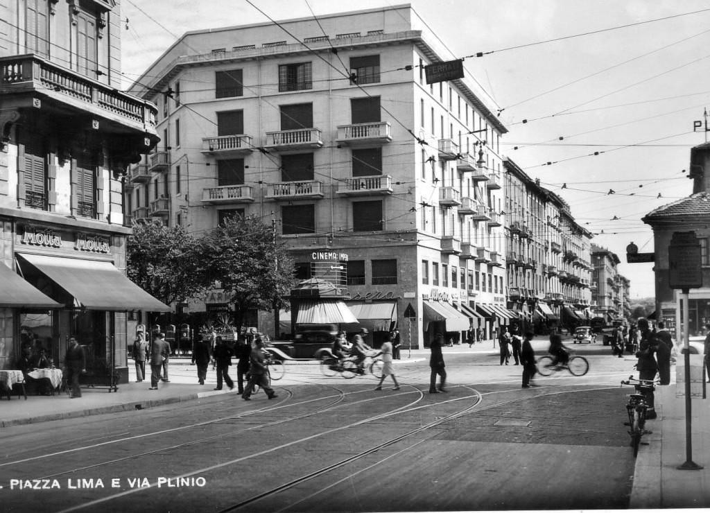 Piazza Lima all'incrocio con le vie Vitruvio e Plinio 1947
