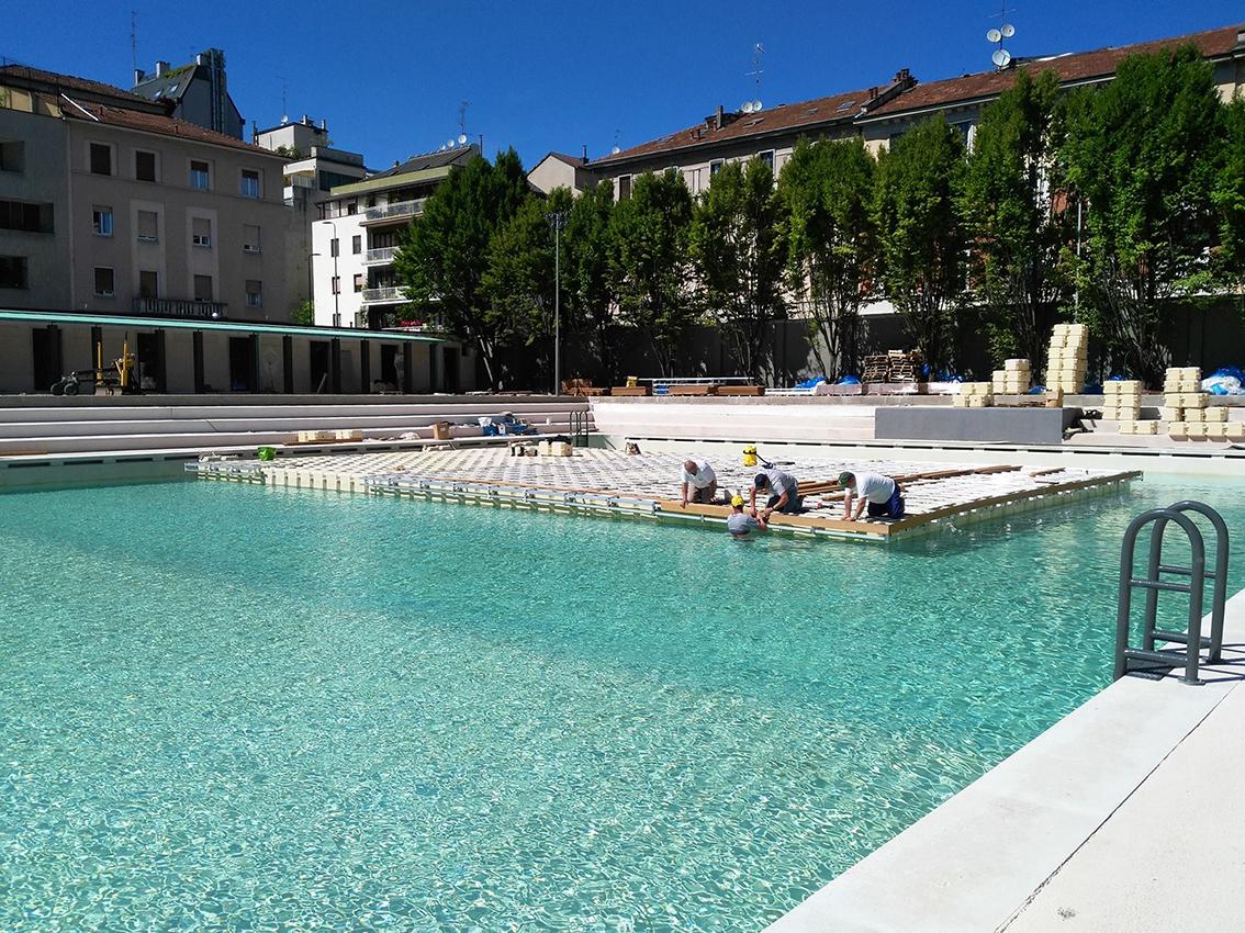 Milano porta romana la piscina caimi quasi al - Piscina porta romana milano ...