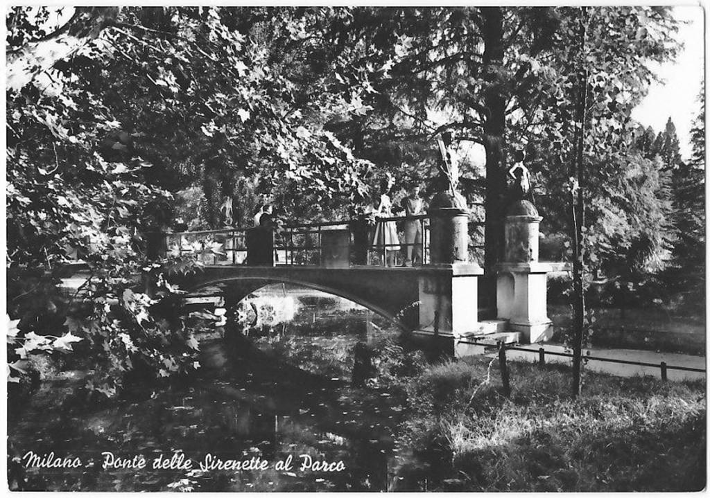 Parco Sempione e il ponte delel Sirenette 1950-53