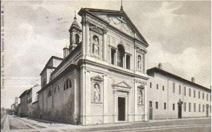 Via della Commenda con S. Paolo e Barnaba e la vecchia sede dello Zaccaria 2