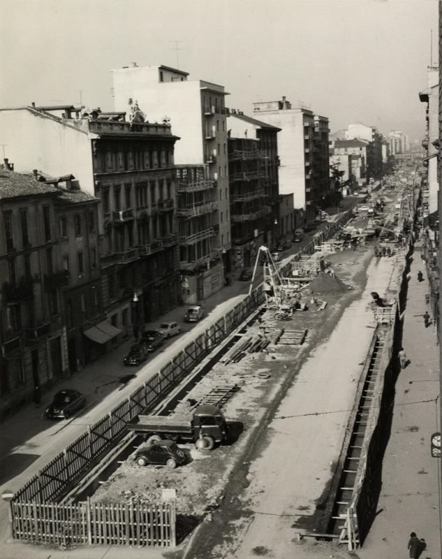 Viale Monza 1959 Paratie per lo scavo delal Metropolitana
