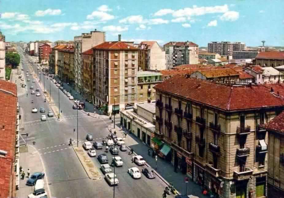 Viale Monza 1960-65 a Gorla incrocio con Via Monte San Gabriele