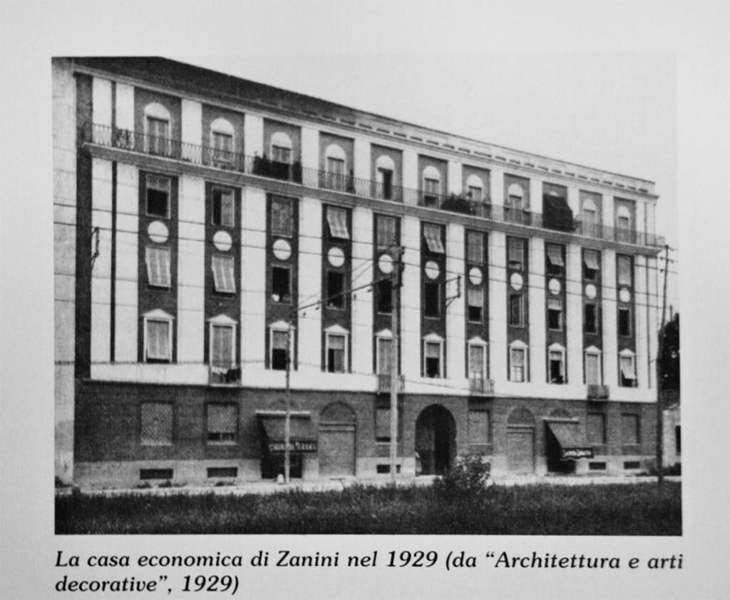 Casa economica di via Pellegrino Rossi, 2. arch. Gigiotti Zanini 1929