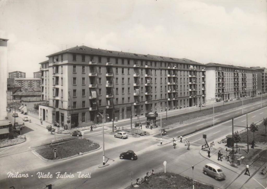 Pratocentenaro - Viale Fulvio Testi incrocio Pianell 1960-63