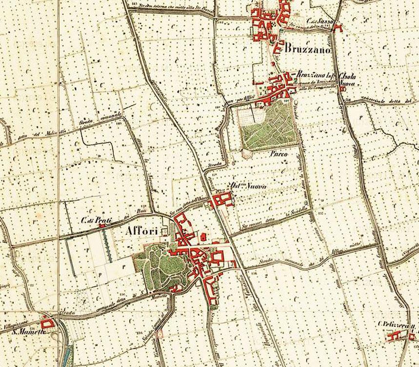 Milano_Mappa_Affori_Bruzzano_1878