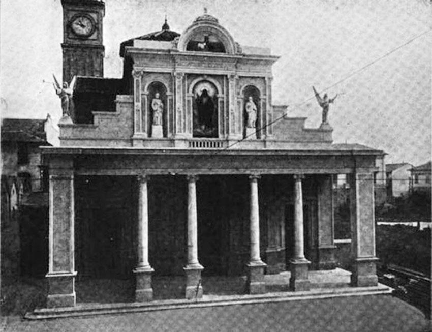 cagnola-la-vecchia-facciata-1888-della-parrocchia-del-sacro-cuore-di-gesu-alla-cagnola-posta-tra-la-via-plana-e-via-bartolini-1920-30