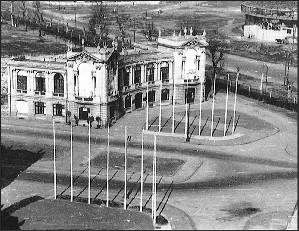 Fiera - Palazzine Orafi La recinzione della Palazzina A su Viale Duilio nel secondo dopoguerra