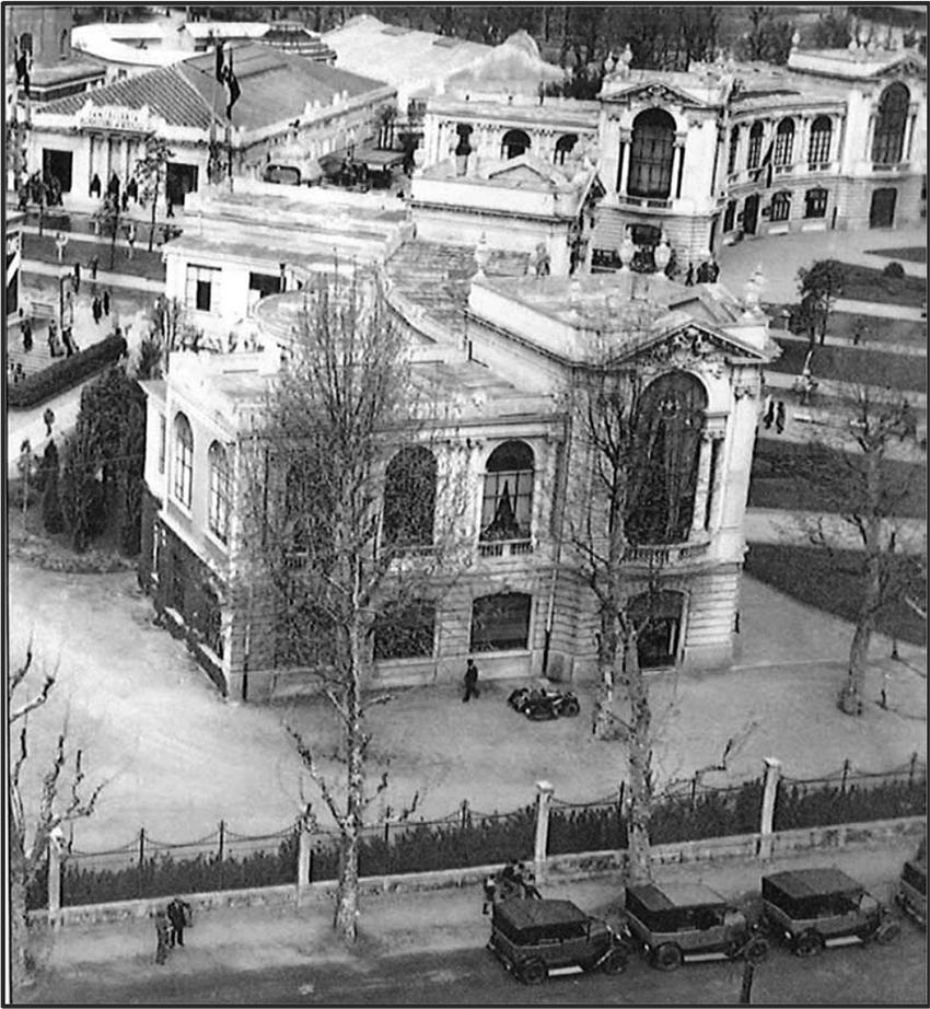 Fiera - Palazzine Orafi La recinzione della Palazzina B su Viale Boezio nel 1927