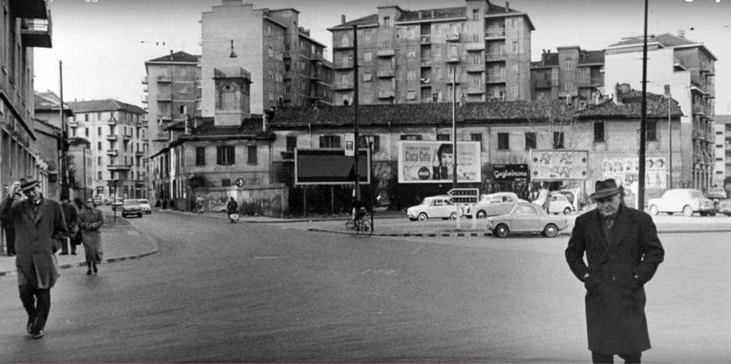 Cagnola - Incrocio via Bodoni e via Pacinotti 1950-55 La vecchia Cort di Finanzier