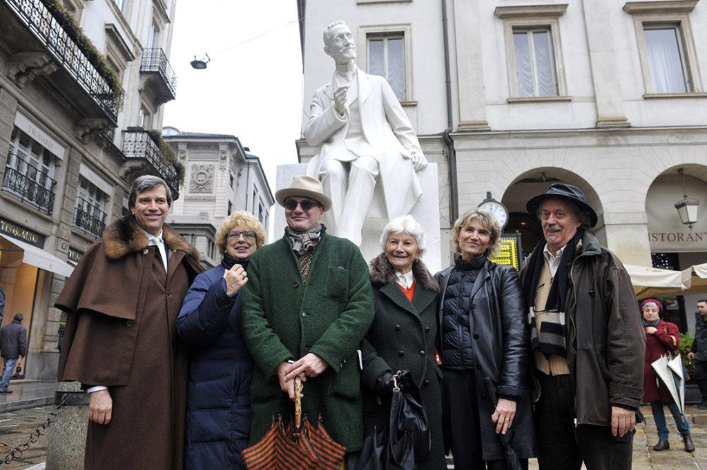 Cerimonia di inaugurazione di Largo Ghiringhelli e della statua di Giulio Ricordi - Milano, 25 novembre 2016