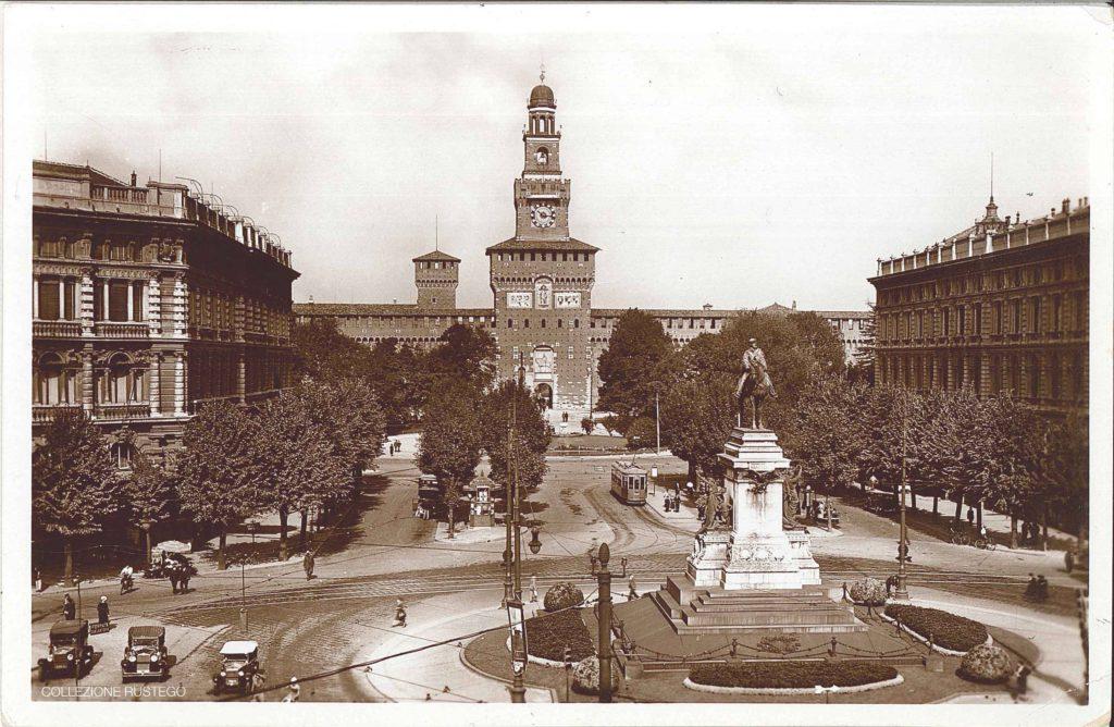 largo-cairoli_il-castello-sforzesco_panoramica-1930-1933