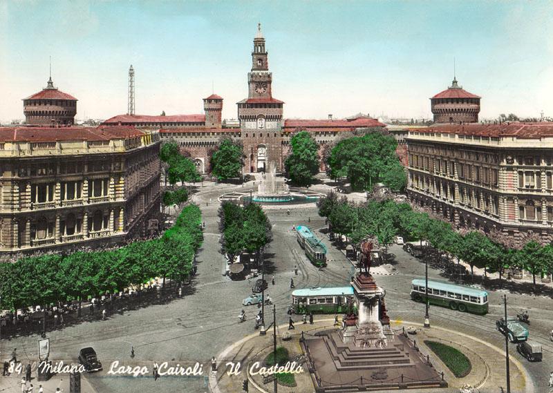 largo-cairoli_il-castello-sforzesco_panoramica-1947-50
