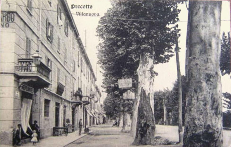 Precotto Villanuova, primi del '900, l'incrocio Viale Monza con via Erodoto