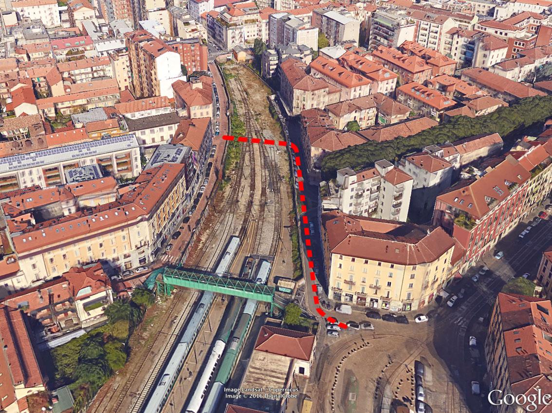 Milano porta genova ecco il corridoio sulla ferrovia - Carabinieri porta genova milano ...