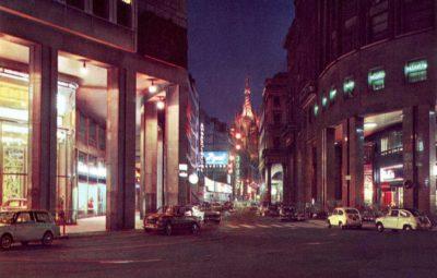 C.so Vittorio Emanuele notturno 1960