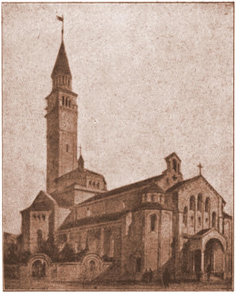 Montalbino - La chiesa di San Paolo, progetto 1925