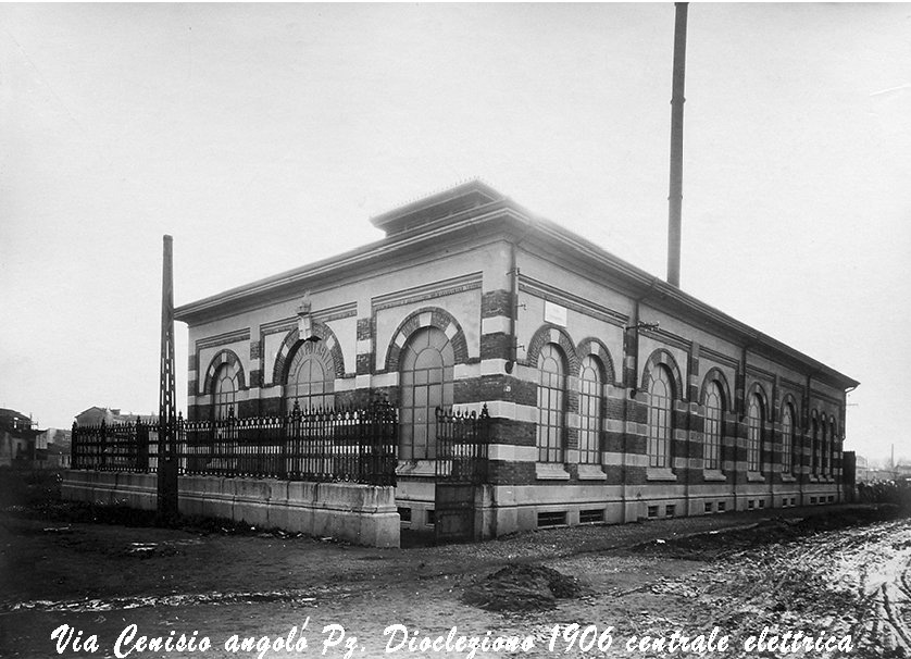 Via Cenisio 39 : Piazza Diocleziano - 1906 Centrale di sollevamento dell'acqua potabile