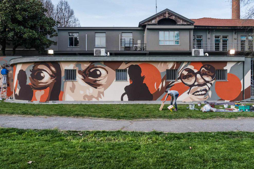 Porta vigentina murales dario fo rame scuola teatrale for Ristorante murales milano