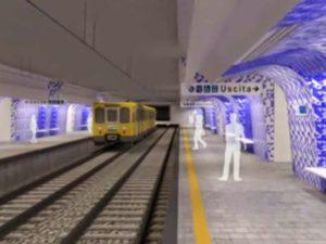 Stazione Centro Direzionale - i binari