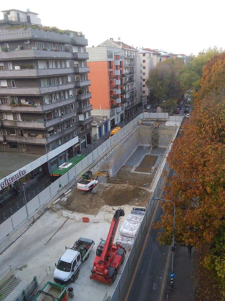 Milano lorenteggio il cantiere del manufatto m4 in via for Come leggere i piani del cantiere