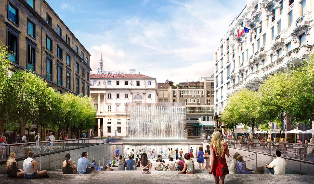 Milano zona san babila nuovi rendering per l 39 apple for Milano shop