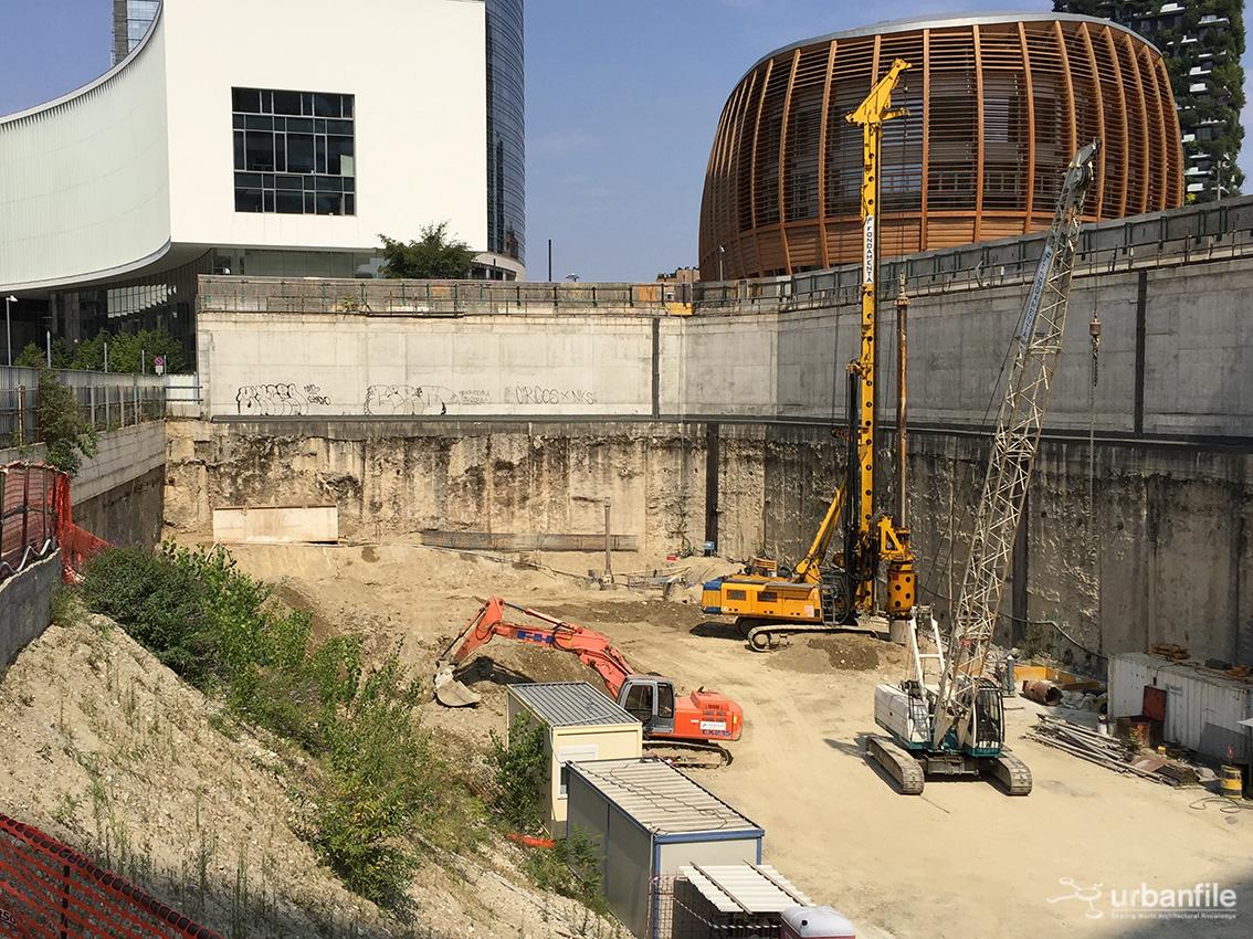 Milano porta nuova cantiere torre unipol agosto 2017 - Via porta nuova milano ...