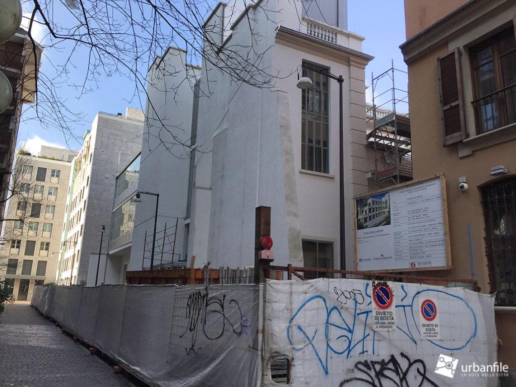 Milano porta garibaldi il cantiere della casa degli for Planimetrie della casa degli artigiani