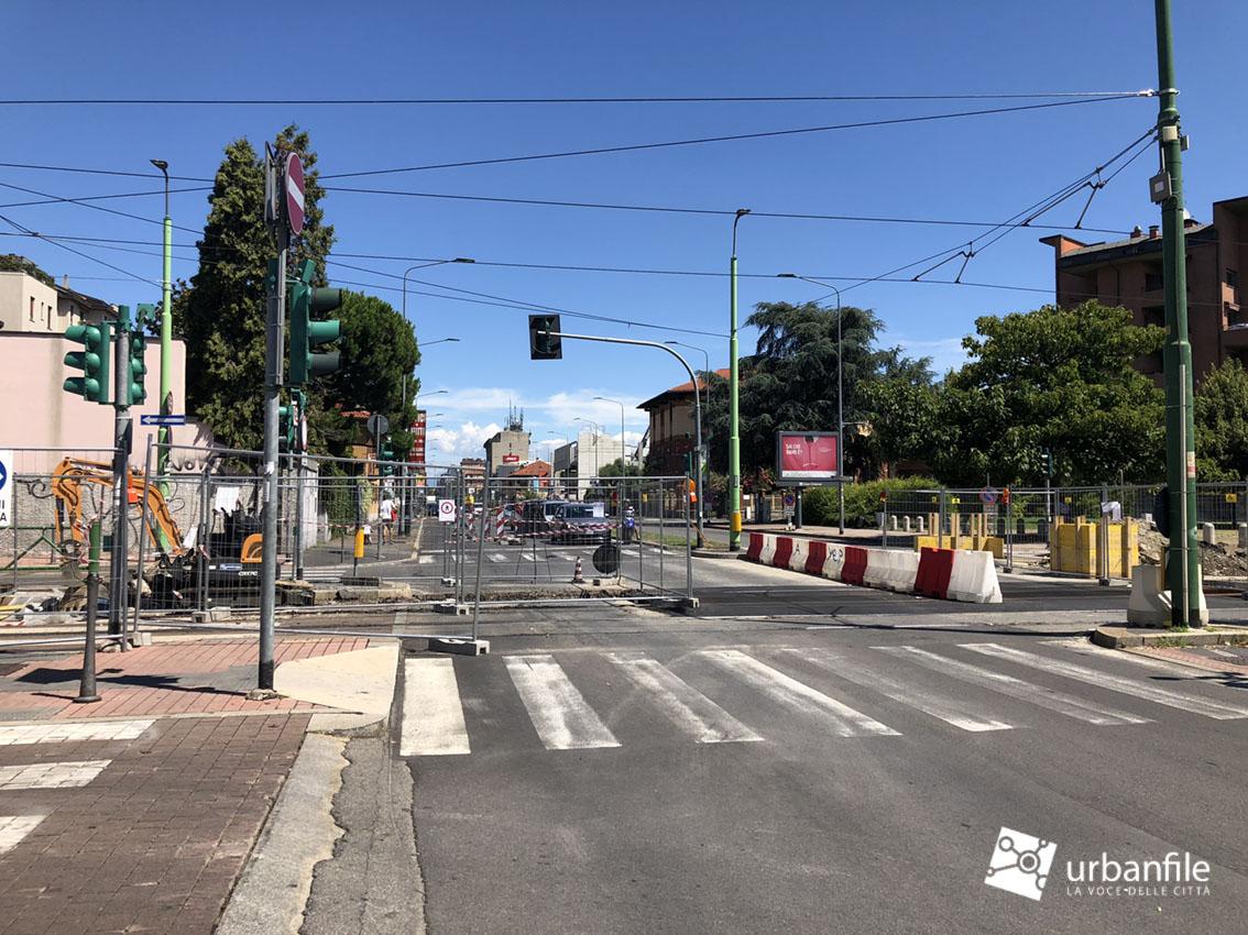 Milano precotto cantiere rotaie incrocio viale monza e for Www presotto it