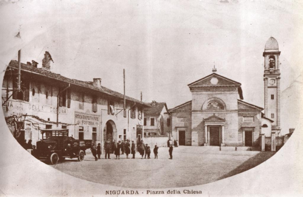 Niguarda La piazza Belloveso intorno al 1930 circa