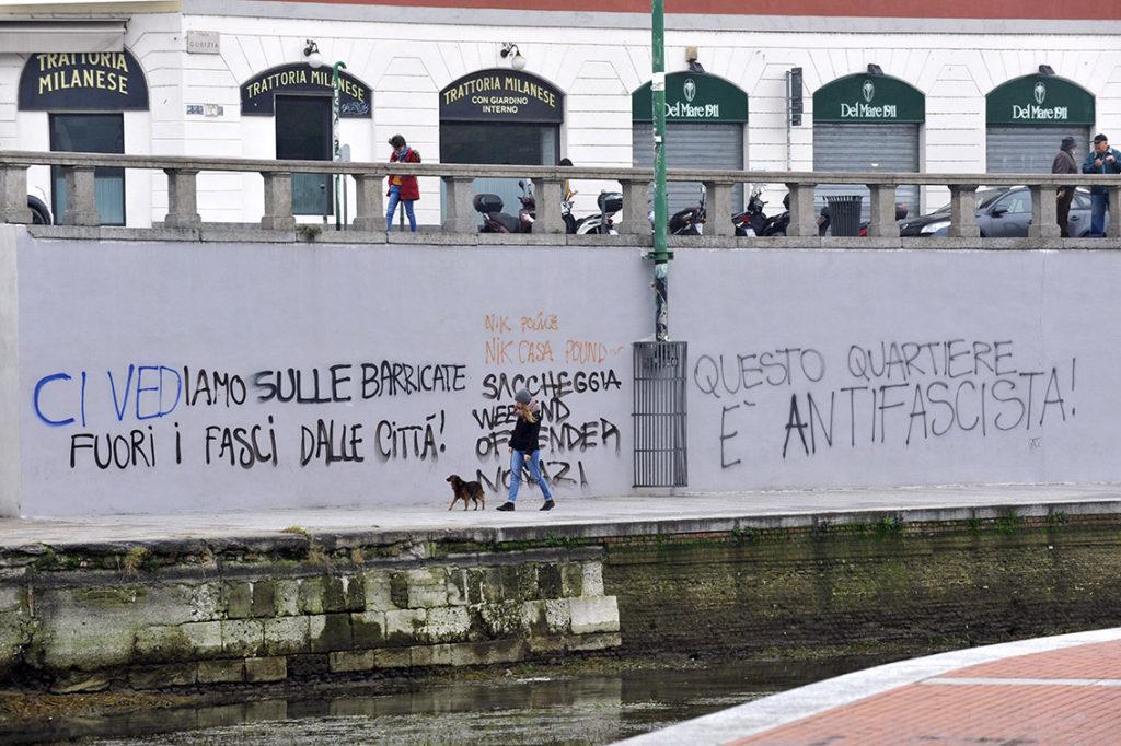 Scritte in Darsena - Milano, 3 novembre 2016