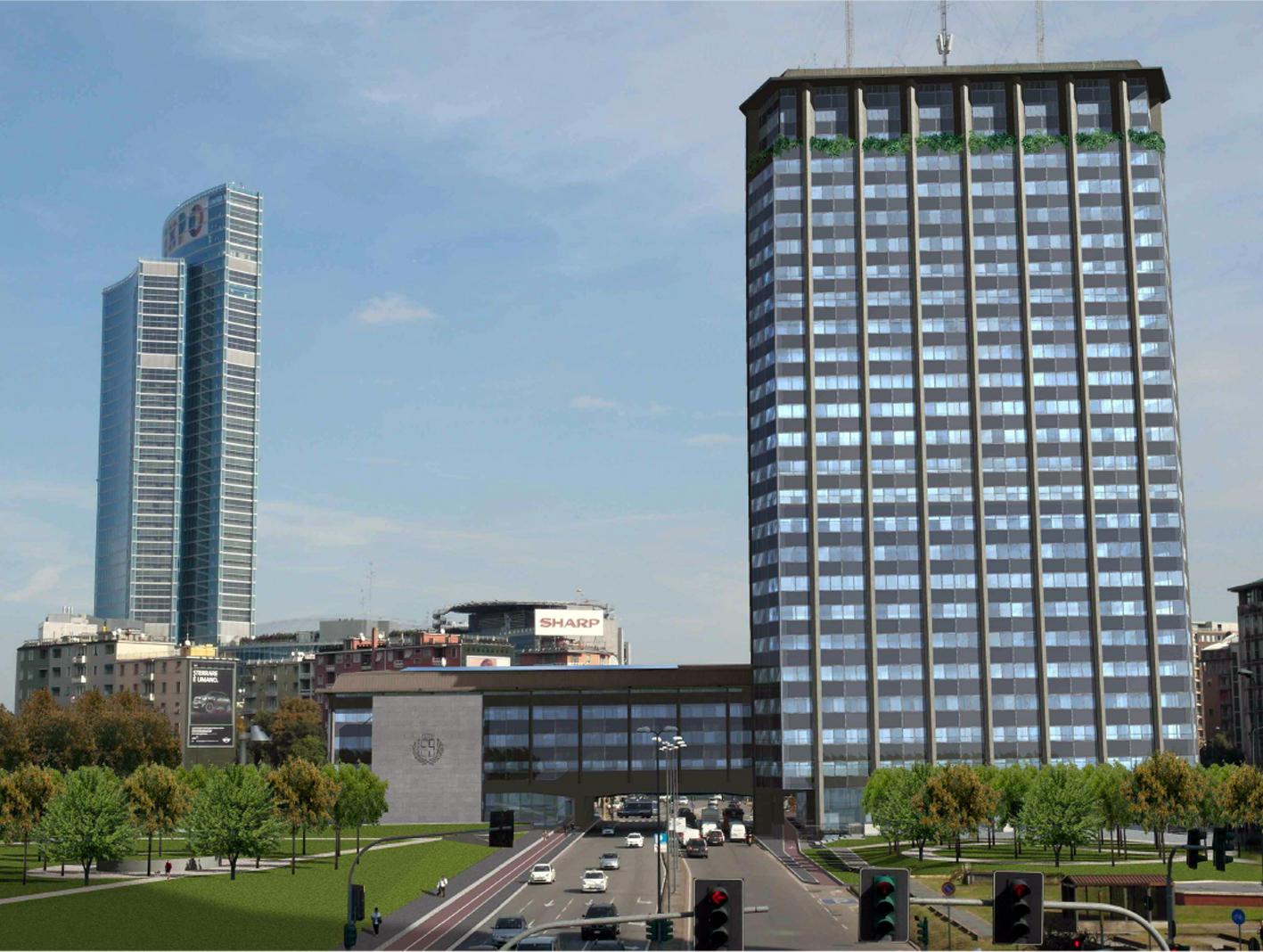 Milano centro direzionale ecco come potrebbe apparire for Uffici attrezzati milano
