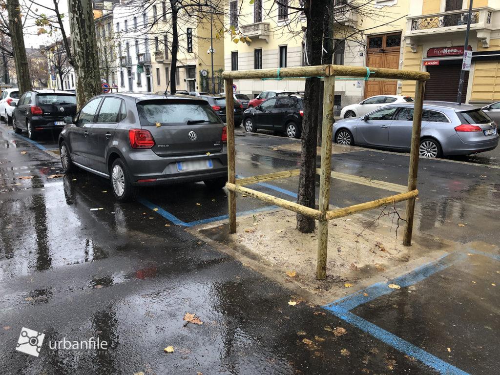 Milano Via Benedetto Marcello riqualificazione Parcheggio